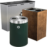 Attractive Recycling Containers for Offices