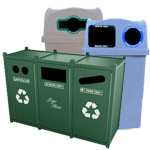 Cafeteria Recycling Bins