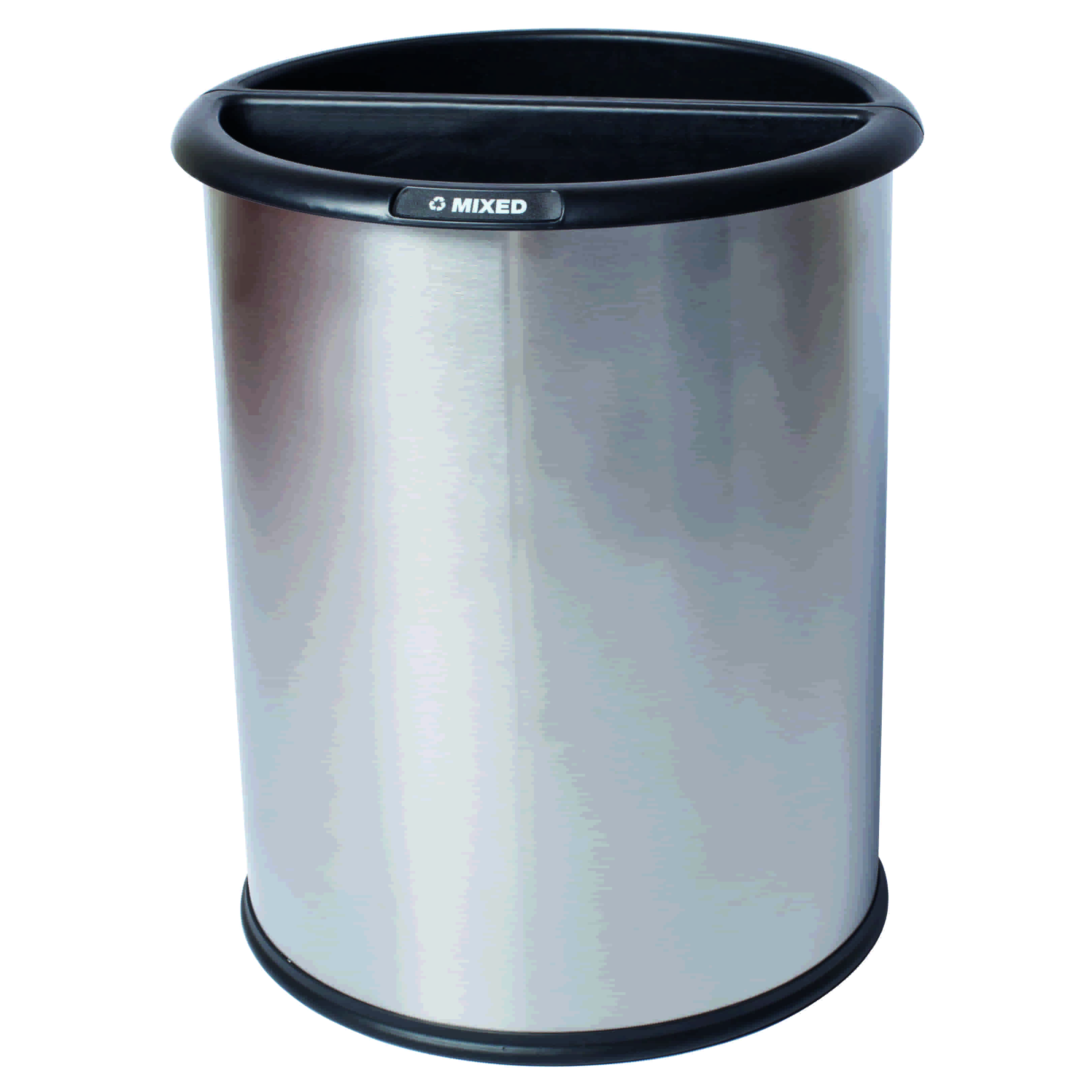 Innroom waste and recycling bin classic smooth in stainless steel