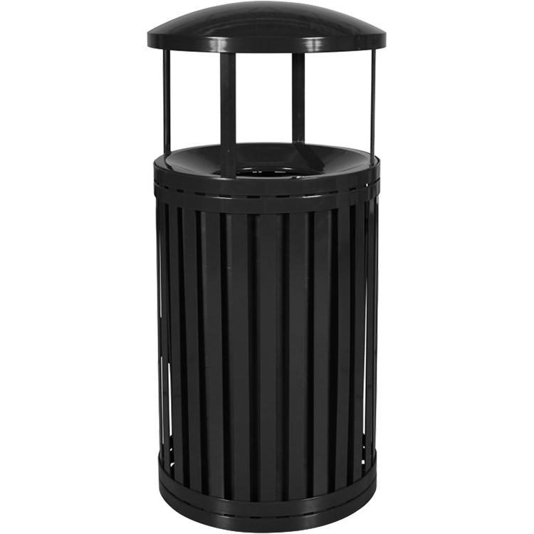 Streetscape 45 Gallon Modern Trash Container With Rain