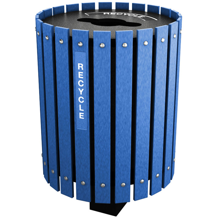 10 55 Gallon Recycling Barrel W Lid Recycle Away