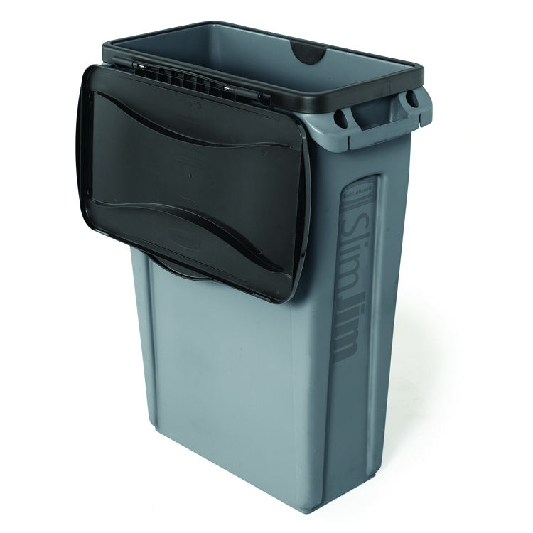 rubbermaid slim jim waste container 23 gallon recycle away. Black Bedroom Furniture Sets. Home Design Ideas