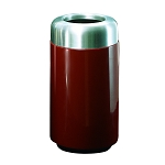 15-Gallon Trash Receptacle with Aluminum Top