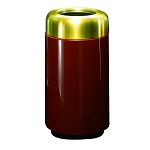 15-Gallon Trash Receptacle with Satin Brass Top