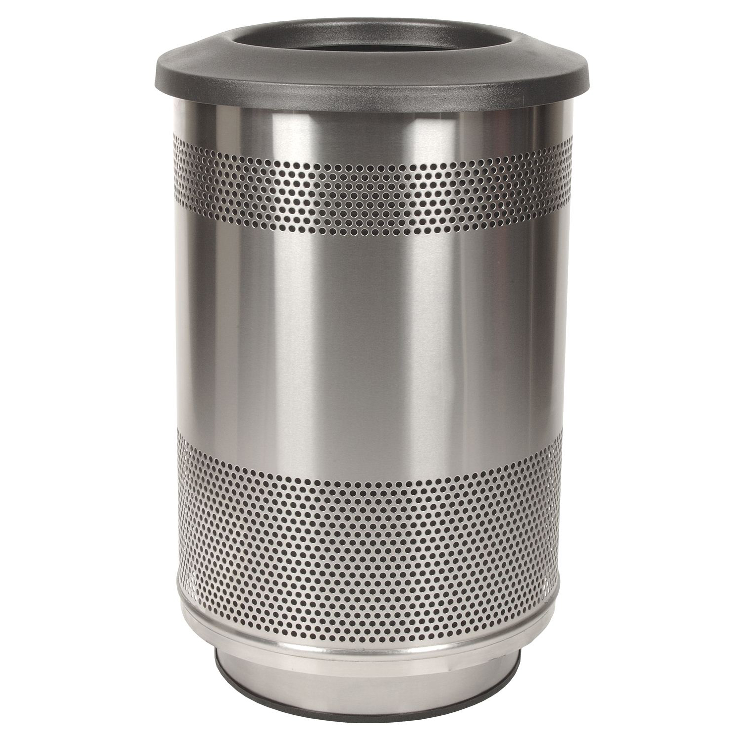 Outdoor 55 Gallon Stainless Steel Waste Receptacle Customizable Recycle Away