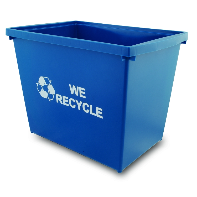 Blue recycling containers - Recycle containers for home use ...