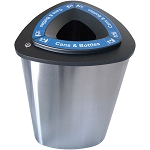 Boka Single Stainless Steel Recycling Container