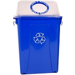 26 Gallon Upright Recycling Container with Clearview Lid