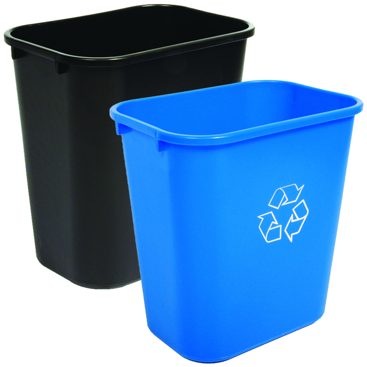 28 quart recycling waste basket combo best seller recycle away. Black Bedroom Furniture Sets. Home Design Ideas
