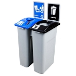 Large Simple Sort Double Recycling Station