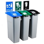 Large Simple Sort Triple Recycling Station