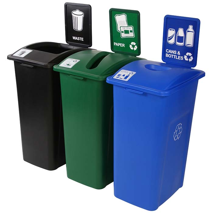Recycling Receptacles 3 In 1 Recycling Containers