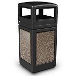 StoneTec 42 Gallon Square Waste Container with Dome Lid