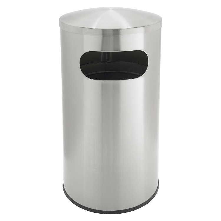 Allure 15 Gallon Stainless Steel Garbage Can Recycle Away