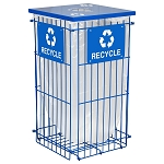 Clean Grid Collapsible Recycling Receptacle