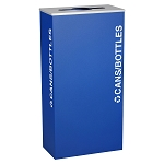 Kaleidoscope XL Rectangular One-Stream Recycling Container