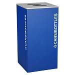 Kaleidoscope XL Square One-Stream Recycling Container