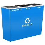 Metro Triple Stream Recycling Receptacle in Custom Colors