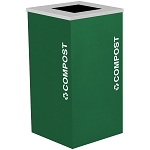 Kaleidoscope One-Stream Square Composting Container