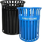 metal recycling bins metal recycling containers recycle away. Black Bedroom Furniture Sets. Home Design Ideas