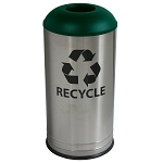 Stainless Steel Recycling Receptacle