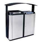 Echelon Outdoor 2-Stream Recycling Station with Canopy