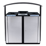 Echelon Outdoor 3-Stream Recycling Station with Canopy