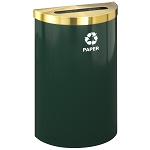 Glaro VALUE SERIES Half-Round Recycling Container in Designer Colors 16 Gallon