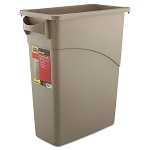 Slim Jim 16 Gal Waste Container with Handles