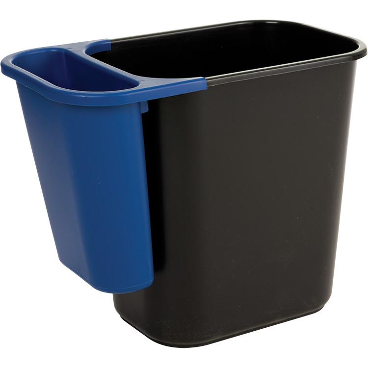 rubbermaid office wastebasket recycling side bin recycle