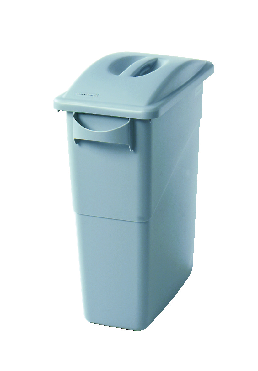 rubbermaid 16 gallon slim jim trash can with lid handles recycle away. Black Bedroom Furniture Sets. Home Design Ideas