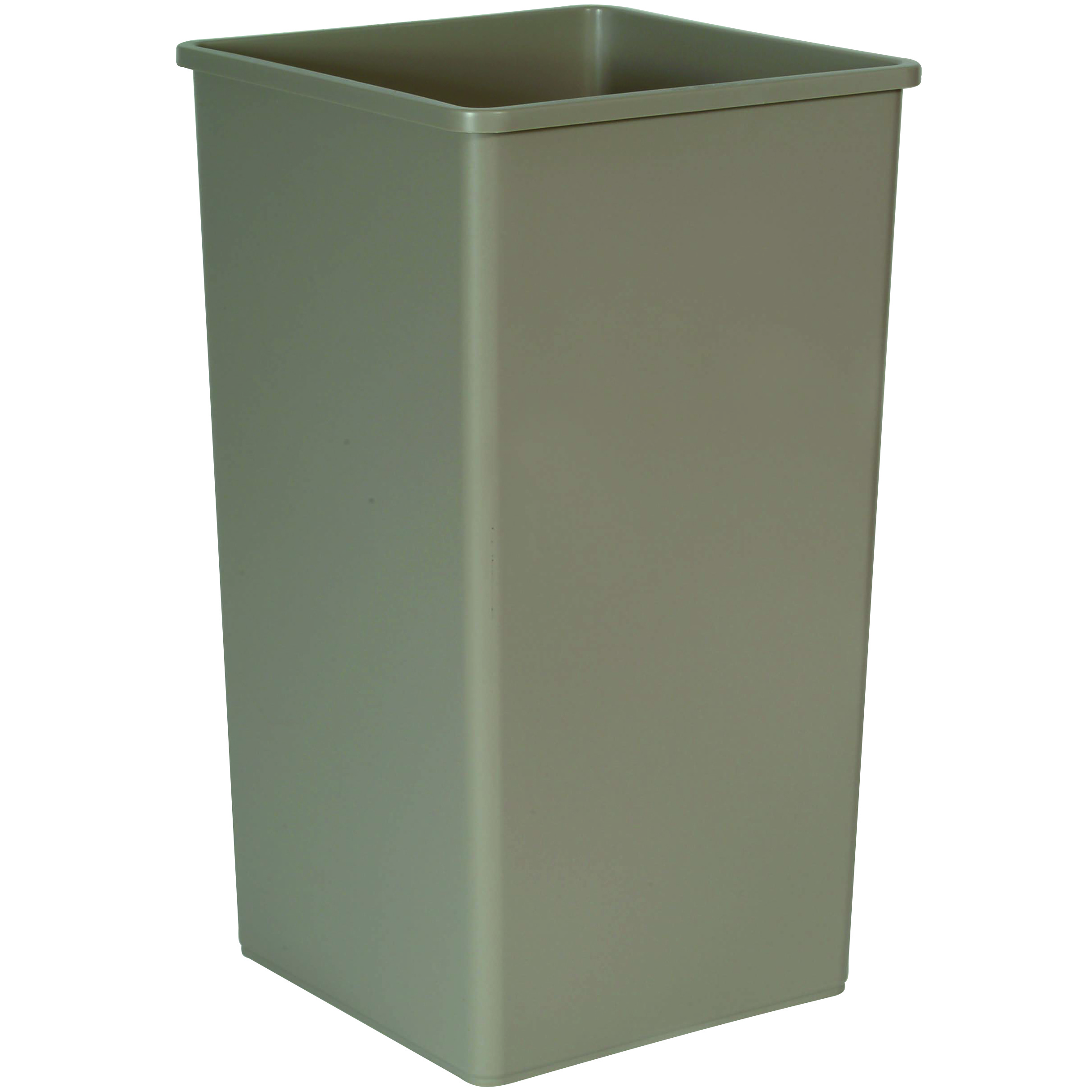 rubbermaid untouchable square recycling bin trash can 50 gallon gray recycle away. Black Bedroom Furniture Sets. Home Design Ideas