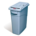 Slim Jim 16 Gal Confidential Document Container with Handles and Lid