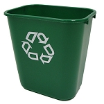 Rubbermaid Medium Deskside Recycling Container in Green