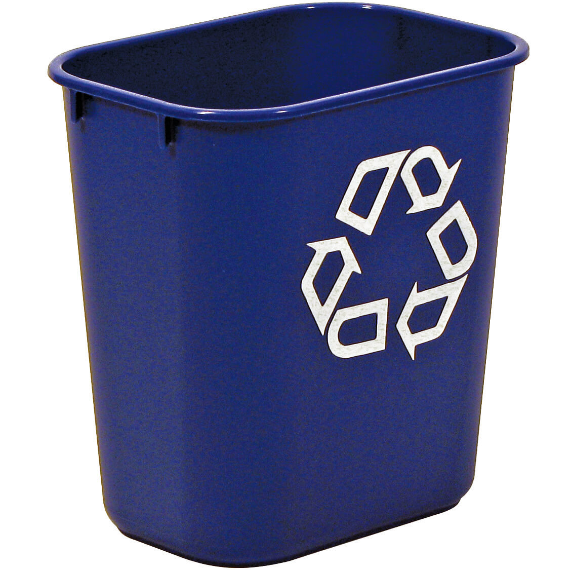 small 13 quart office recycling bin for deskside recycling