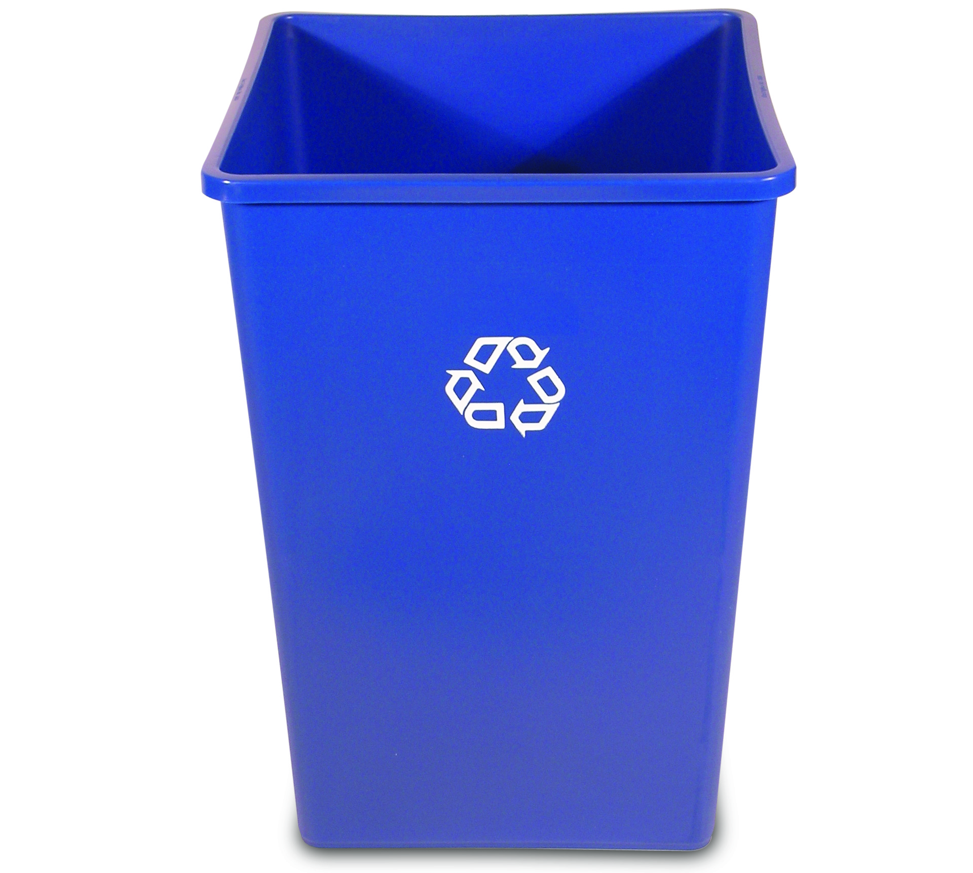 rubbermaid 35 gal untouchable square recycling bin recycle away. Black Bedroom Furniture Sets. Home Design Ideas