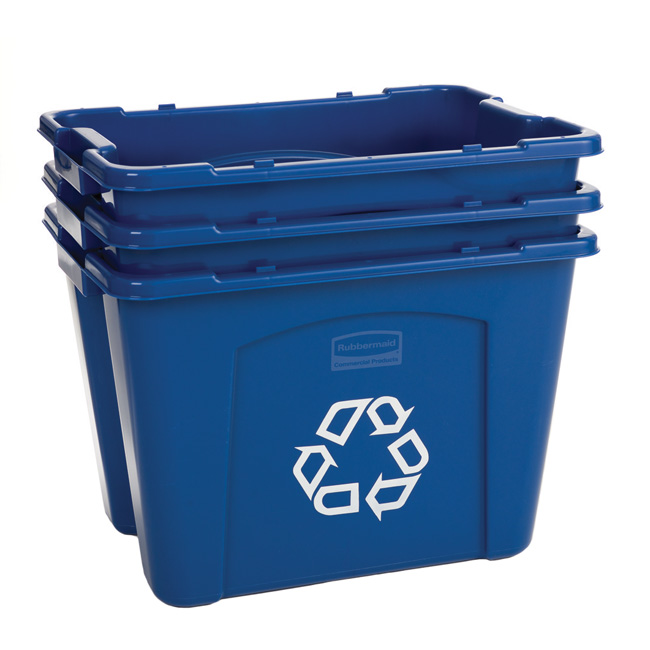 Recycling boxes rubbermaid recycle bins recycle away - Recycle containers for home use ...