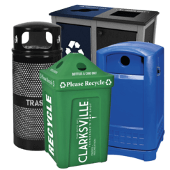 Athletic Field Recycling Bins