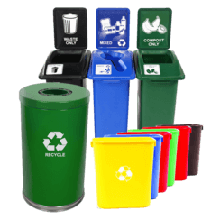 Residence Hall Recycle Bins