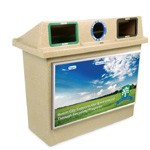 The Super Sorter Series:  Three-Stream Recycling Container
