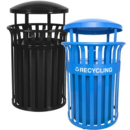 Streetscape 35 5 Gal Trash Can Amp Recycling Container W