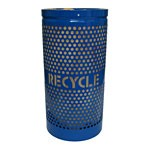 Perforated Steel Recycling Receptacle