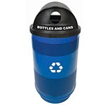 Perforated 55-Gallon Recycling Containers