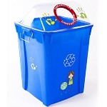 Kidz 26 Gallon Upright Recycling Container with Clearview Lid