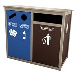 Keene Sideload Slim Triple Recycling Station