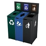 The Chesterfield Slim 3-Stream Recycling Station
