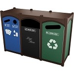 Dorset Sideload Slim Quadruple Recycling Station