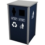 Keene Sideload Slim Double Recycling Station