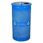 34 Gallon Perforated Steel Recycling Receptacle