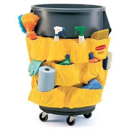 Brute Yellow Caddy Bag Fits 44 Gallon Rubbermaid